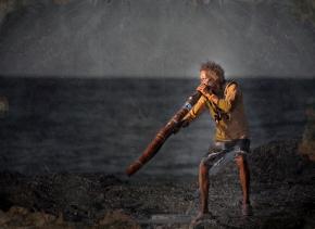 Russel Corowa Plays the Didgeridoo