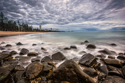 First Light on Burleigh Beach