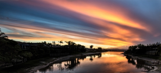 Sunset over Swan Lake
